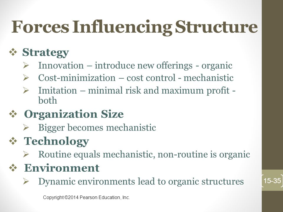 Forces Influencing Structure