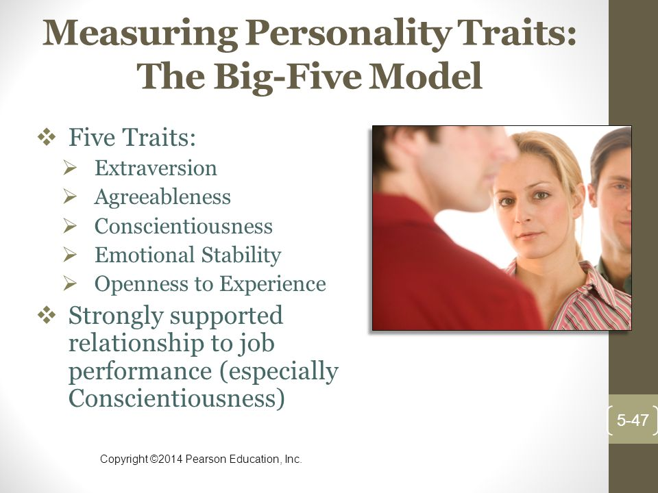 Measuring Personality Traits: The Big-Five Model