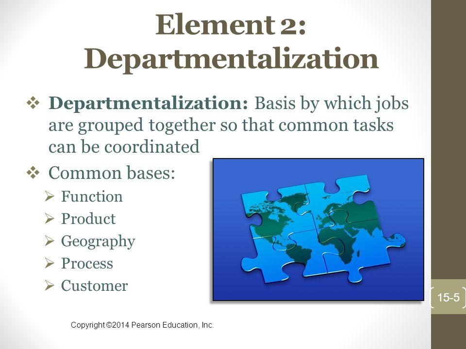 Element 2: Departmentalization