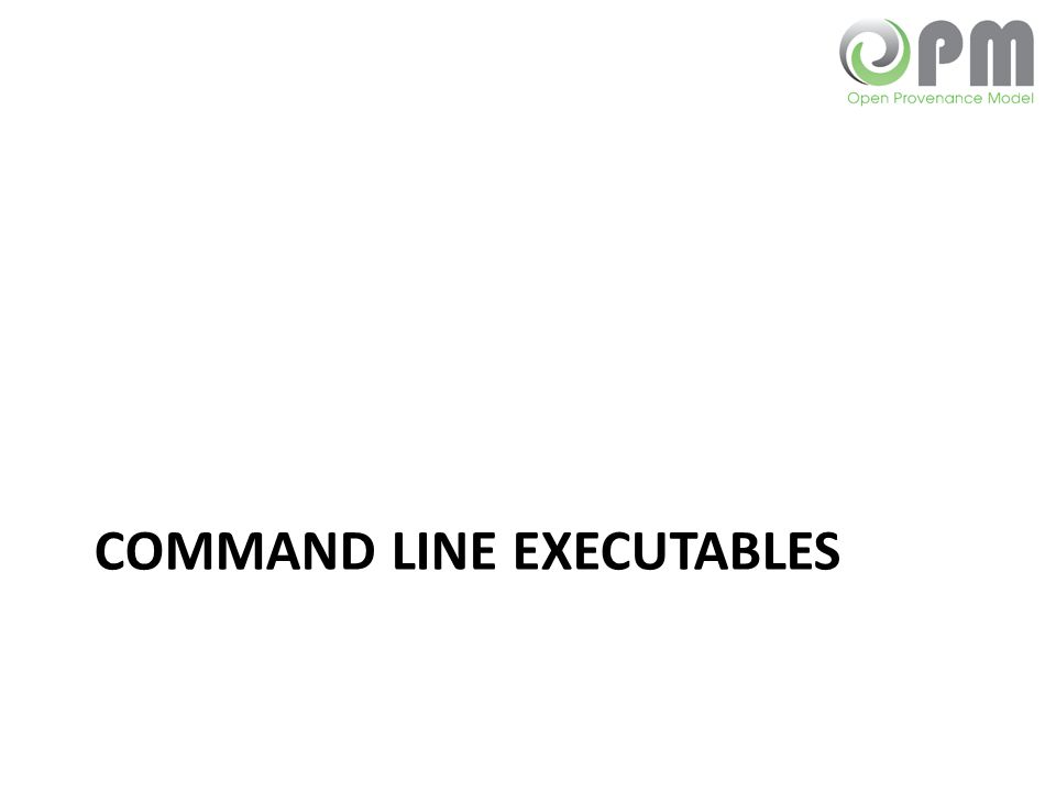Command Line executables