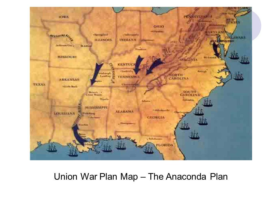 Union War Plan Map – The Anaconda Plan
