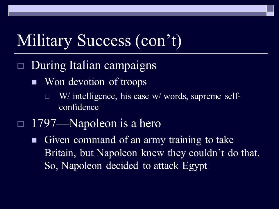 Military Success (con't)
