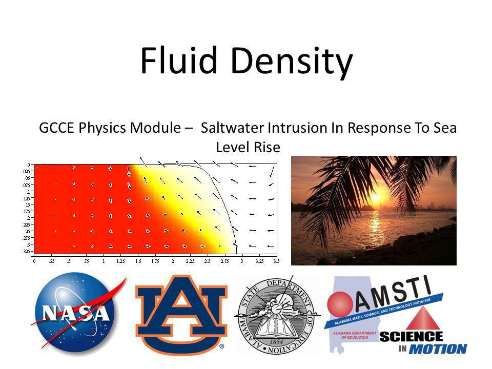 Fluid Density GCCE Physics Module – Saltwater Intrusion In Response To Sea Level Rise