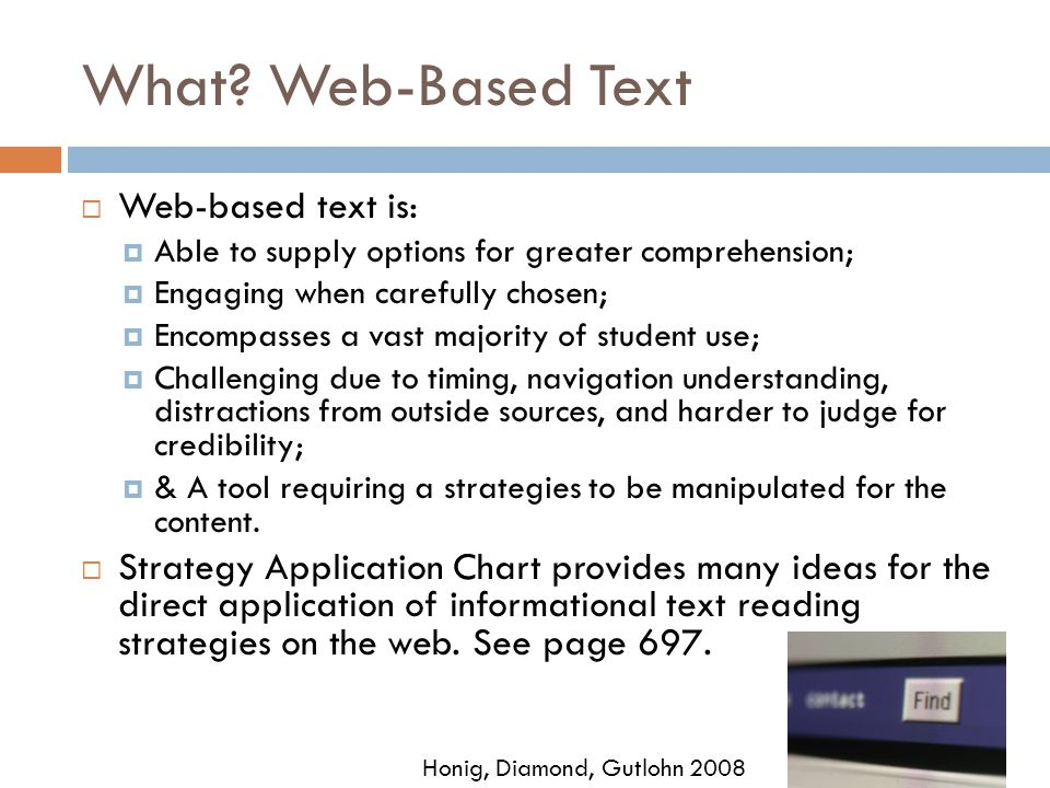 What Web-Based Text Web-based text is: