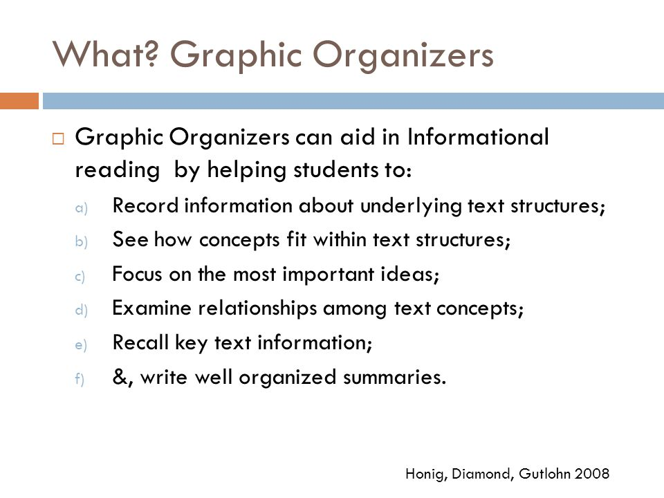 What Graphic Organizers