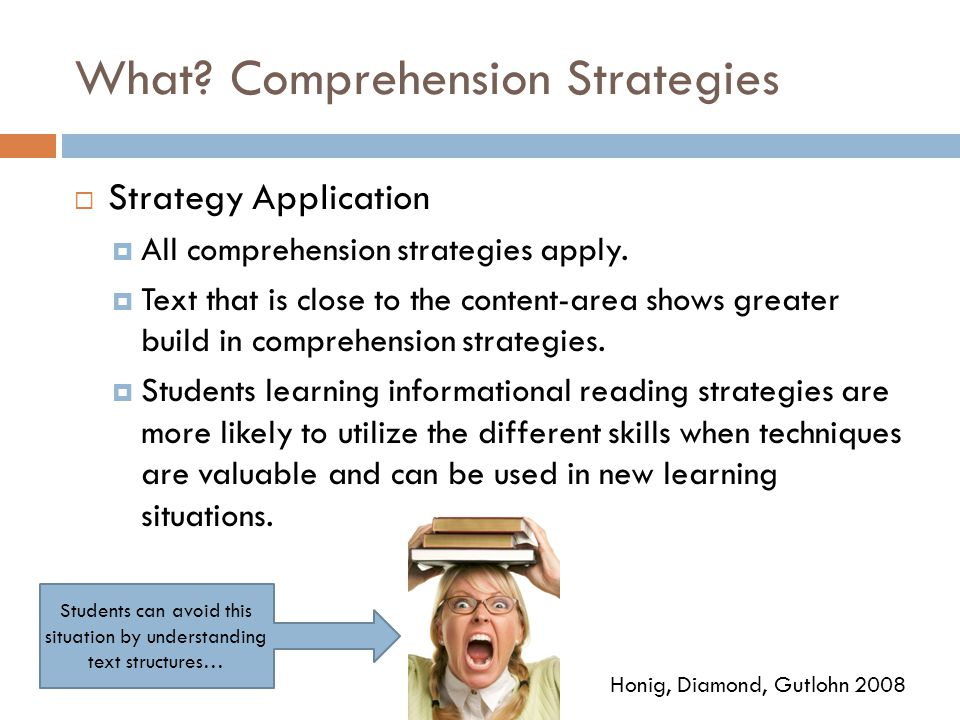 What Comprehension Strategies