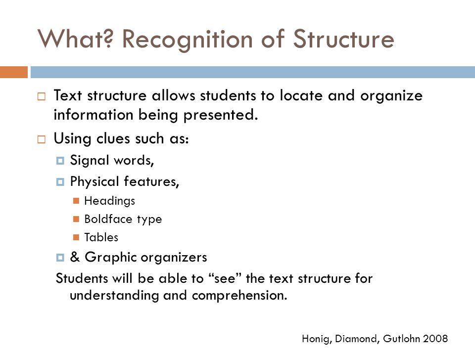 What Recognition of Structure