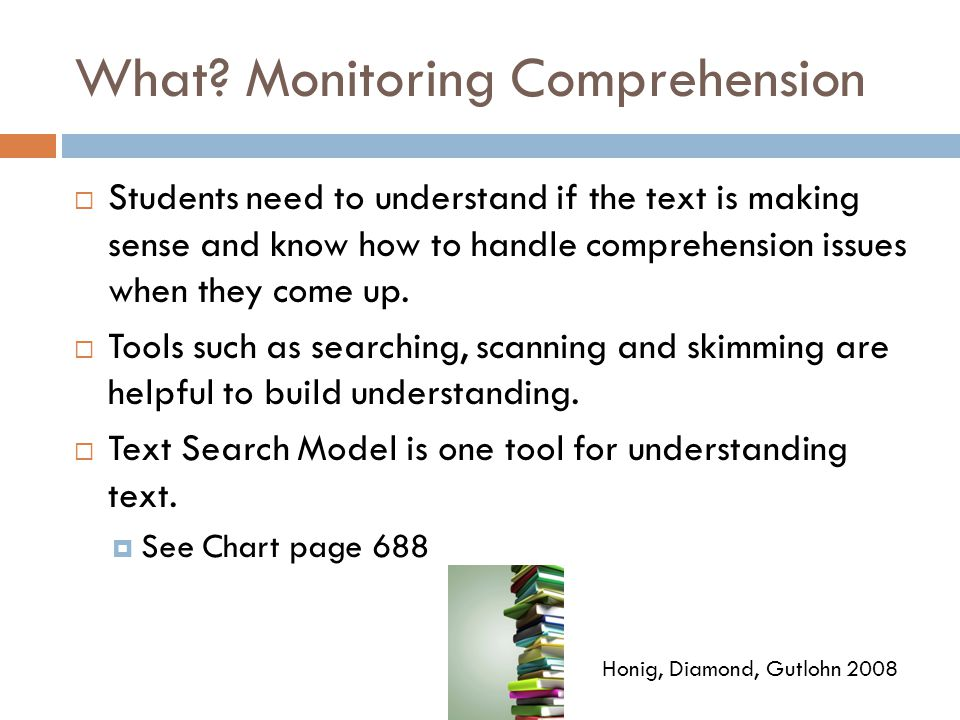 What Monitoring Comprehension