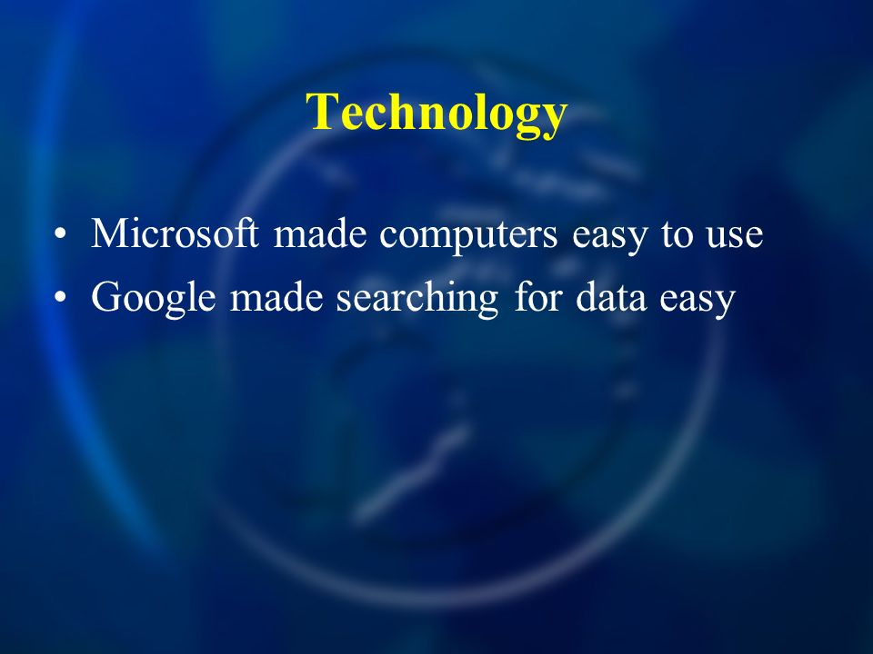 Technology Microsoft made computers easy to use