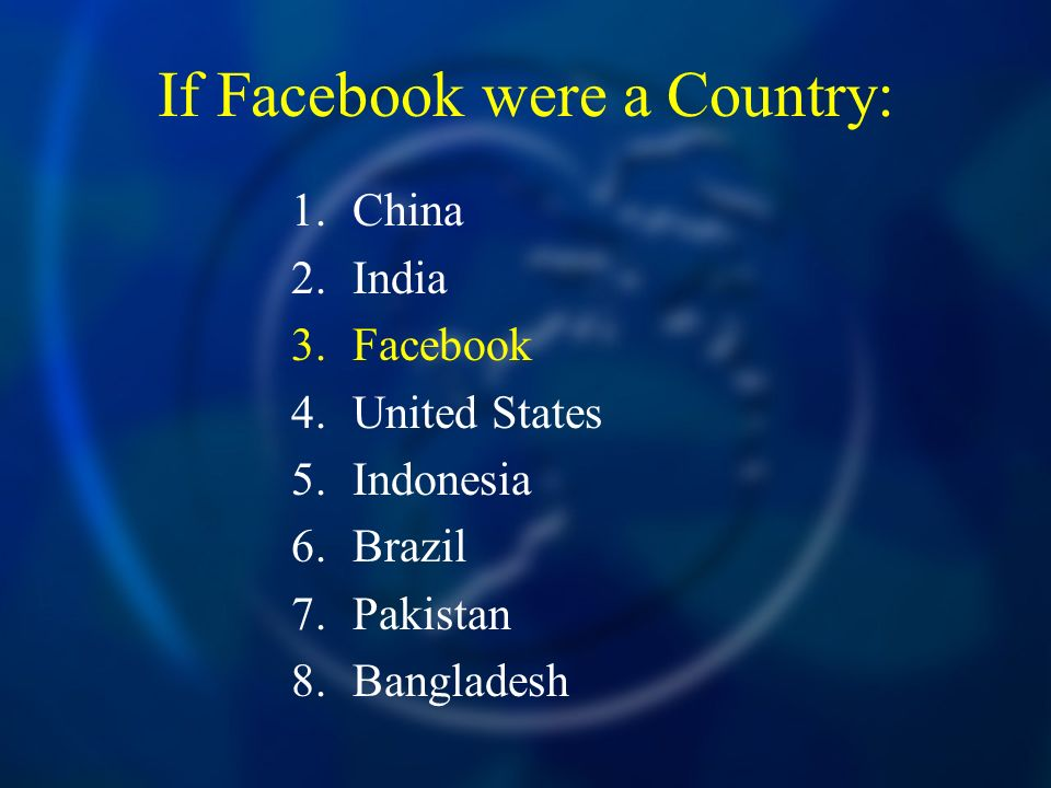 If Facebook were a Country: