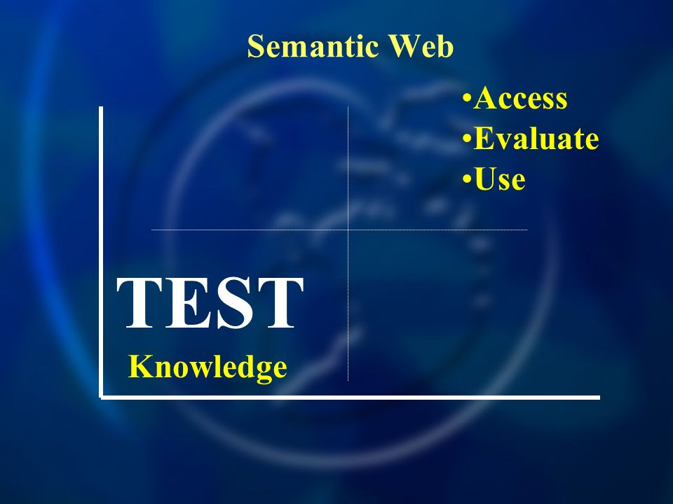 Semantic Web Access Evaluate Use TEST Knowledge