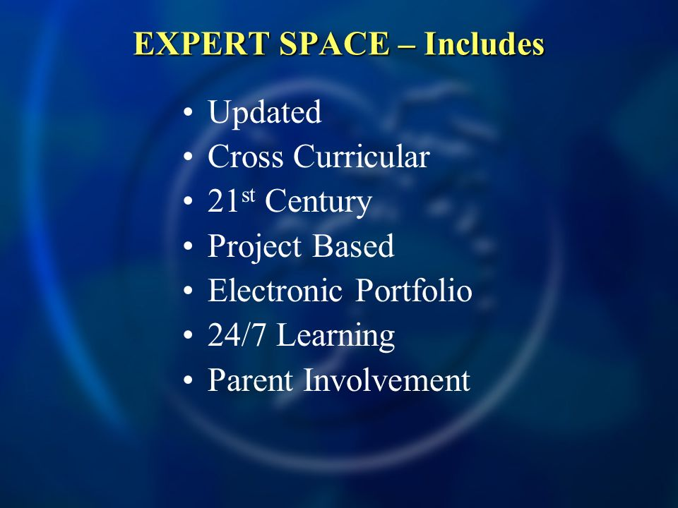 EXPERT SPACE – Includes