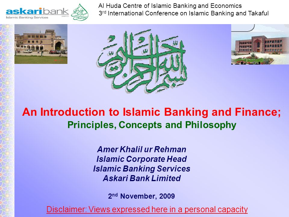 Islamic Corporate Head Islamic Banking Services