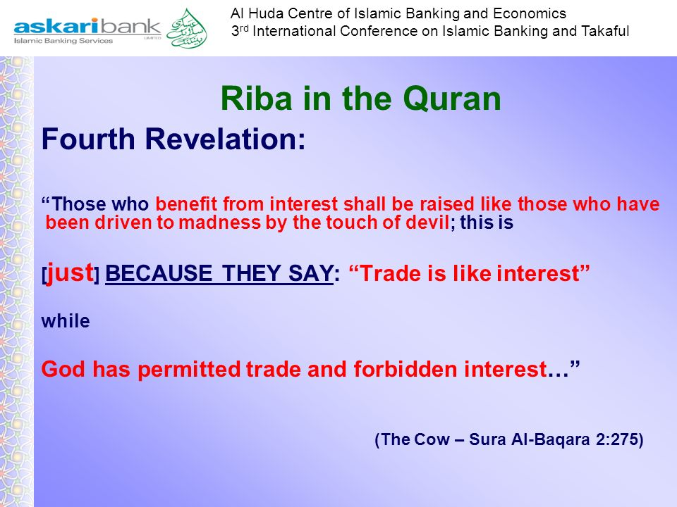 Riba in the Quran Fourth Revelation: