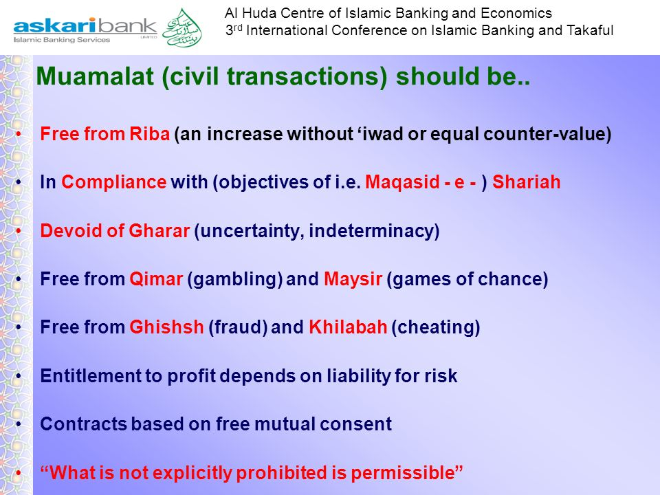 Muamalat (civil transactions) should be..