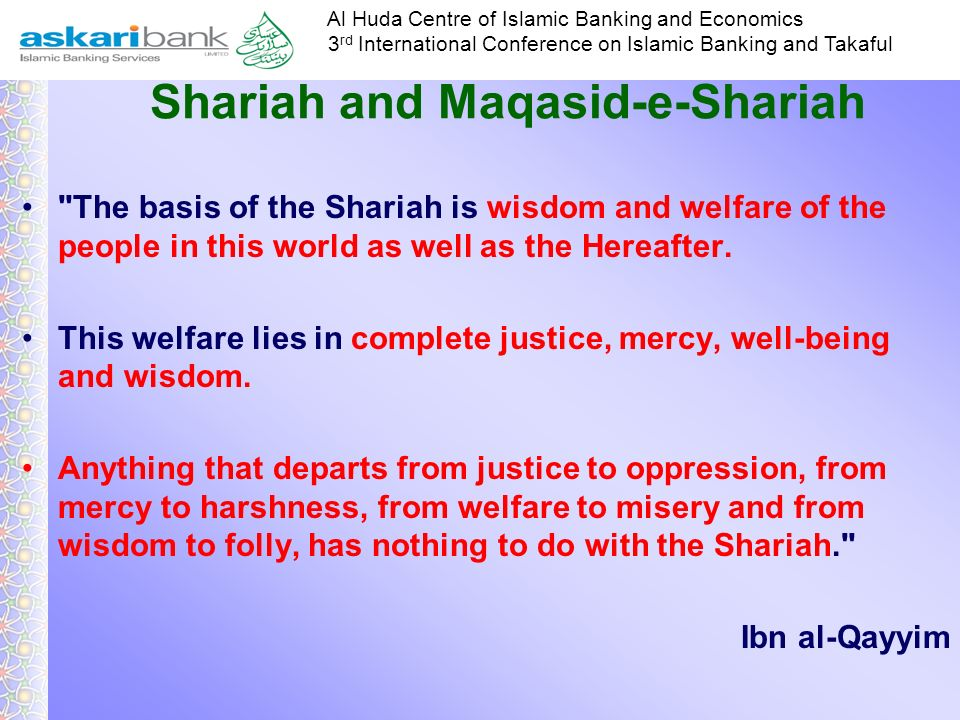 Shariah and Maqasid-e-Shariah