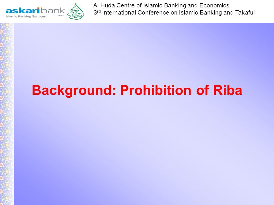 Background: Prohibition of Riba