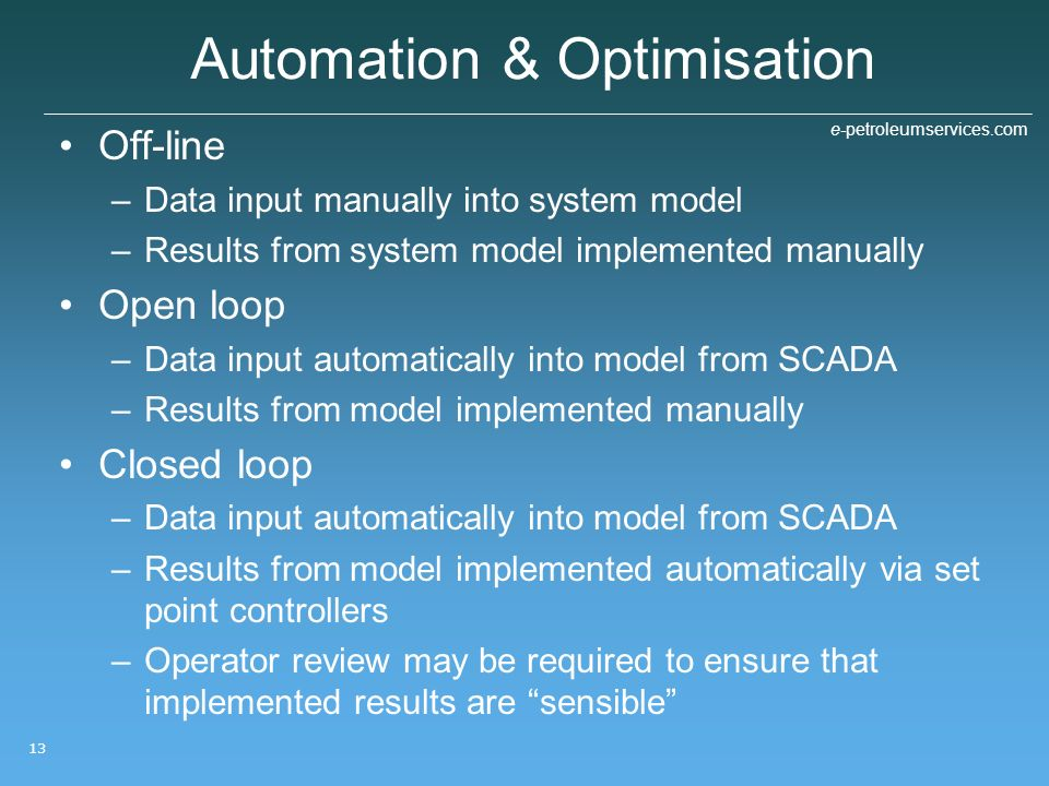 Automation & Optimisation