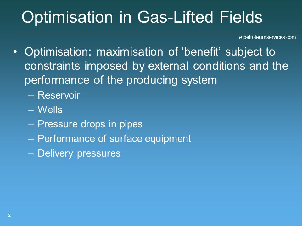 Optimisation in Gas-Lifted Fields