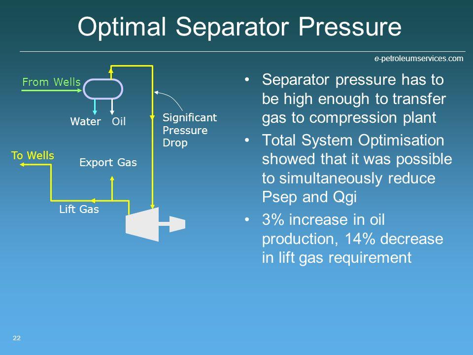 Optimal Separator Pressure