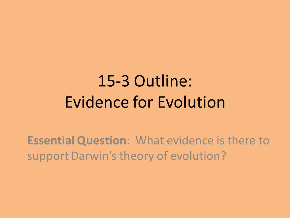 15-3 Outline: Evidence for Evolution