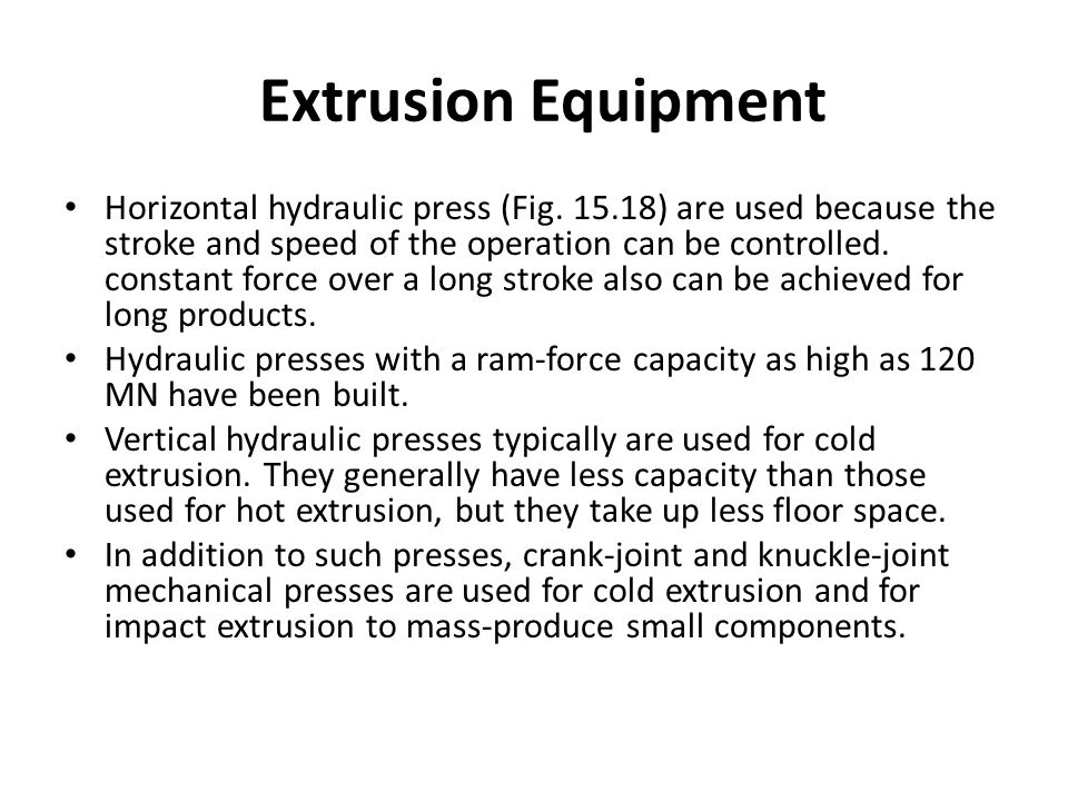 Extrusion Equipment