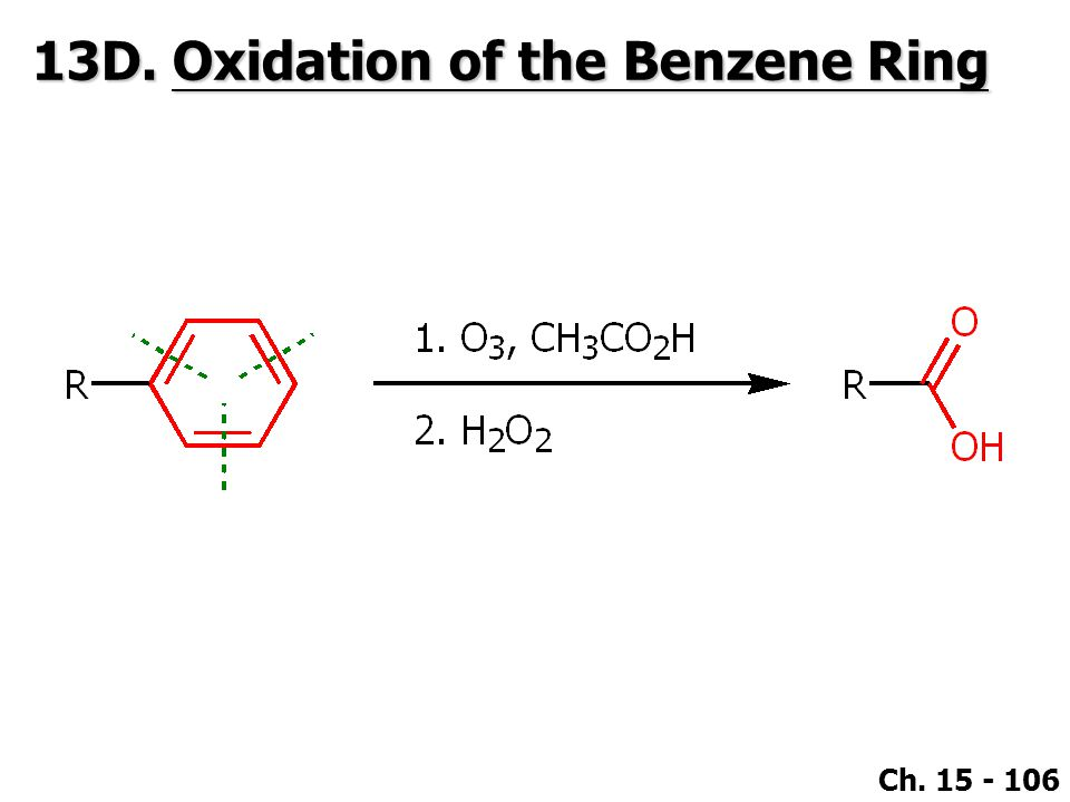 13D. Oxidation of the Benzene Ring