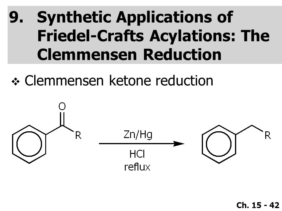 Synthetic Applications of Friedel-Crafts Acylations: The