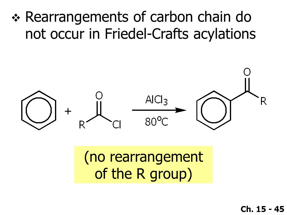 (no rearrangement of the R group)
