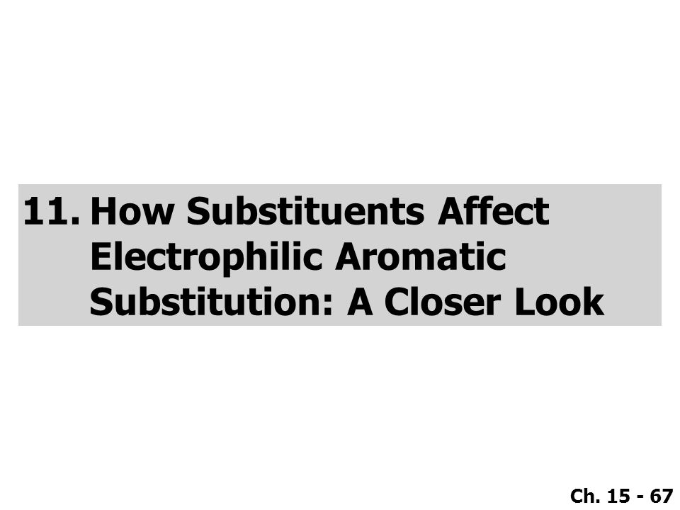 How Substituents Affect Electrophilic Aromatic Substitution: A Closer Look