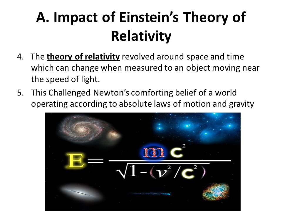 A. Impact of Einstein's Theory of Relativity
