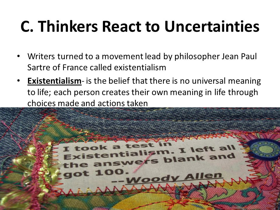 C. Thinkers React to Uncertainties