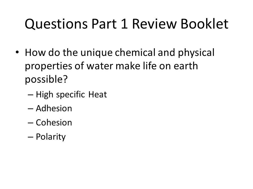 Questions Part 1 Review Booklet