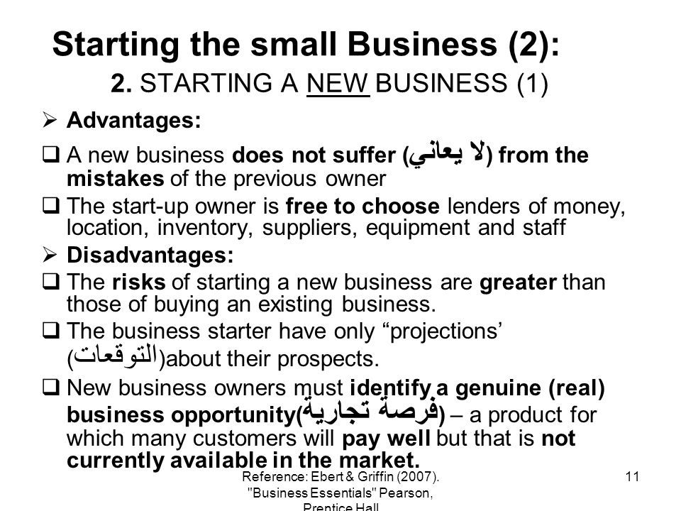 2. STARTING A NEW BUSINESS (1)