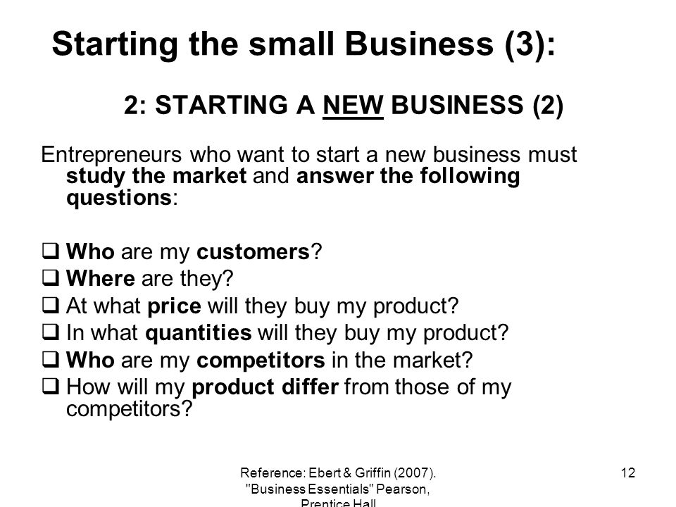 2: STARTING A NEW BUSINESS (2)