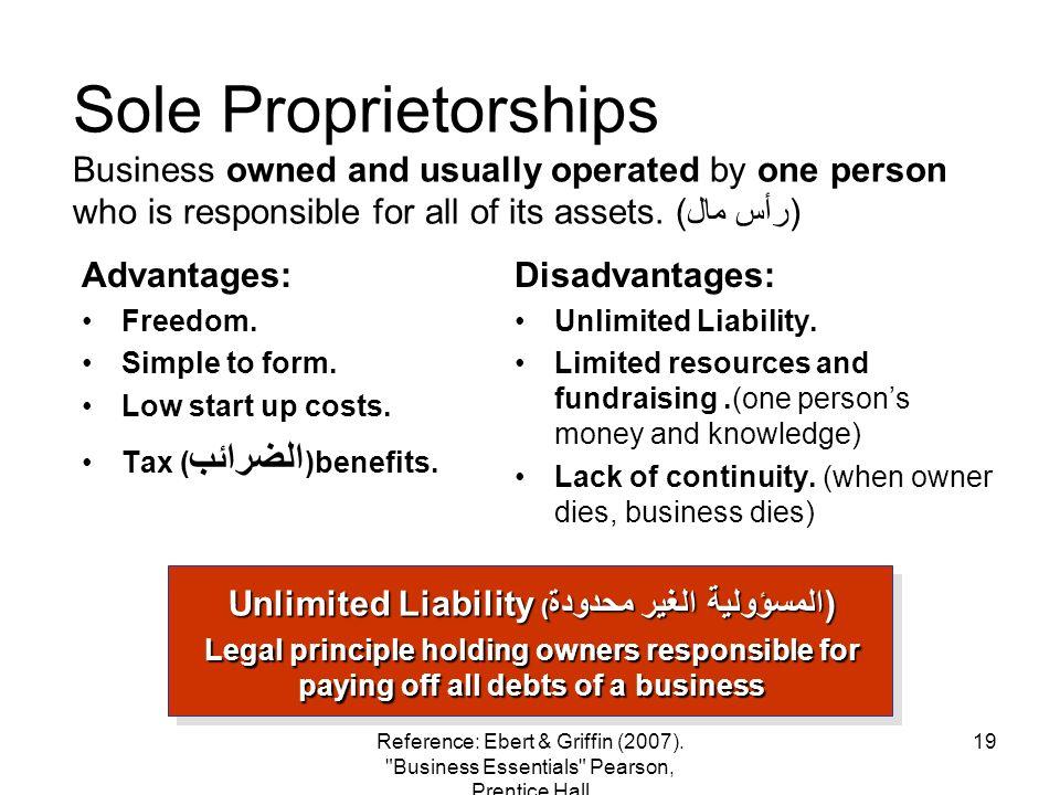 Unlimited Liability (المسؤولية الغير محدودة)