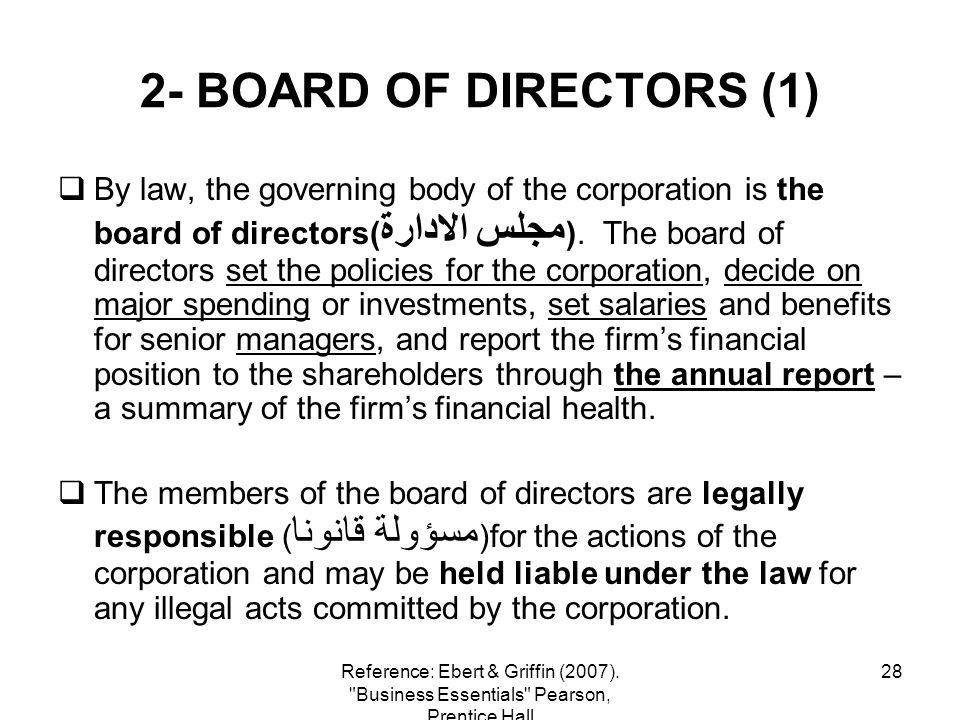2- BOARD OF DIRECTORS (1)