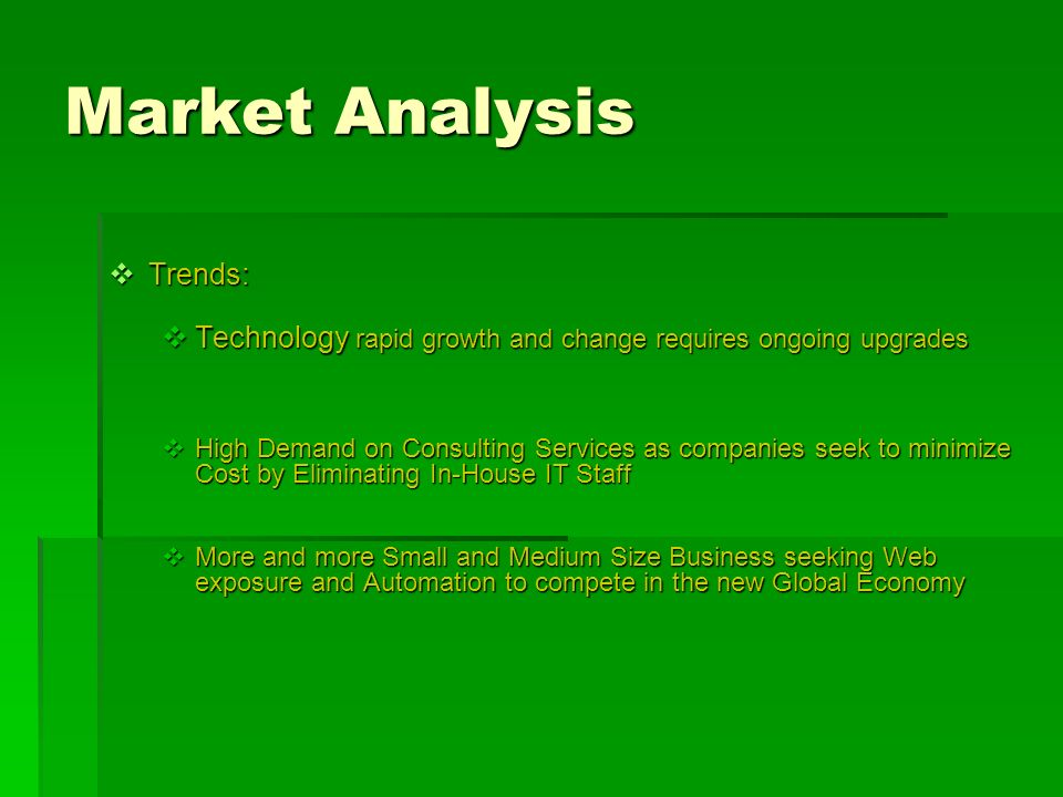 Market Analysis Trends: