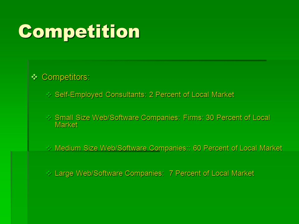 Competition Competitors: