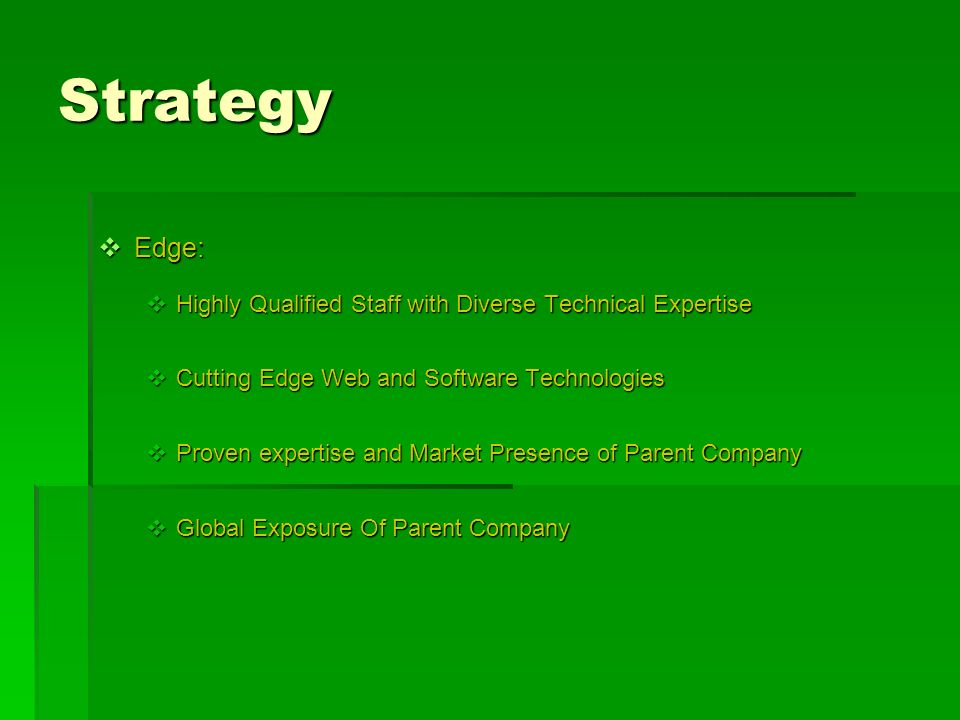 Strategy Edge: Highly Qualified Staff with Diverse Technical Expertise