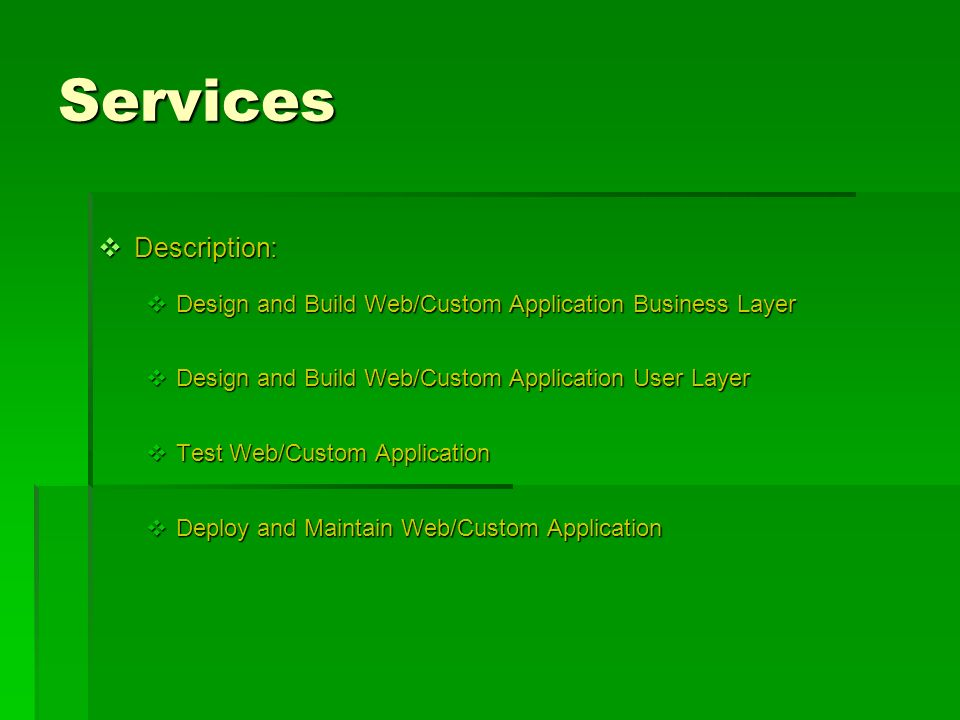 Services Description: