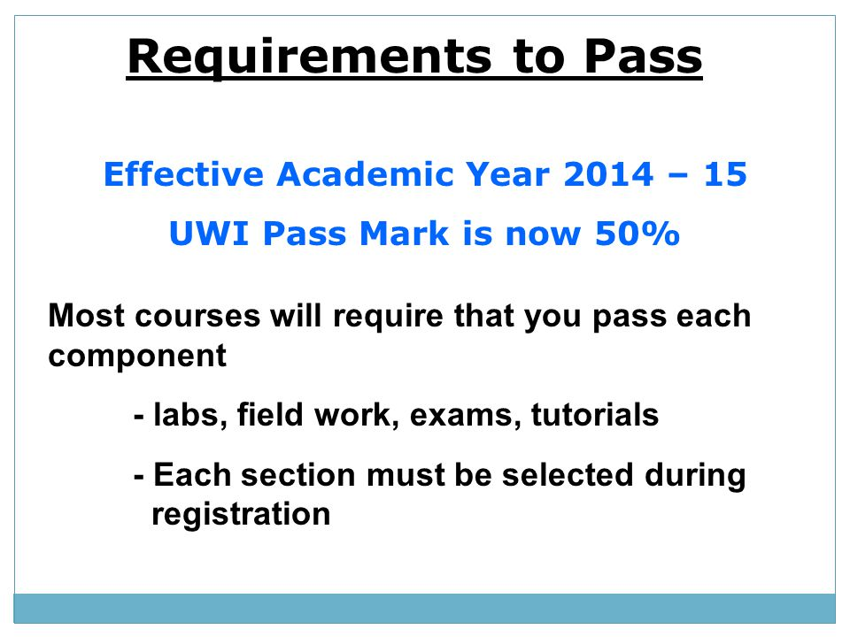 Effective Academic Year 2014 – 15