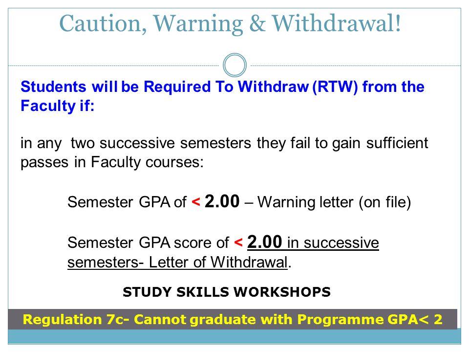 Caution, Warning & Withdrawal!