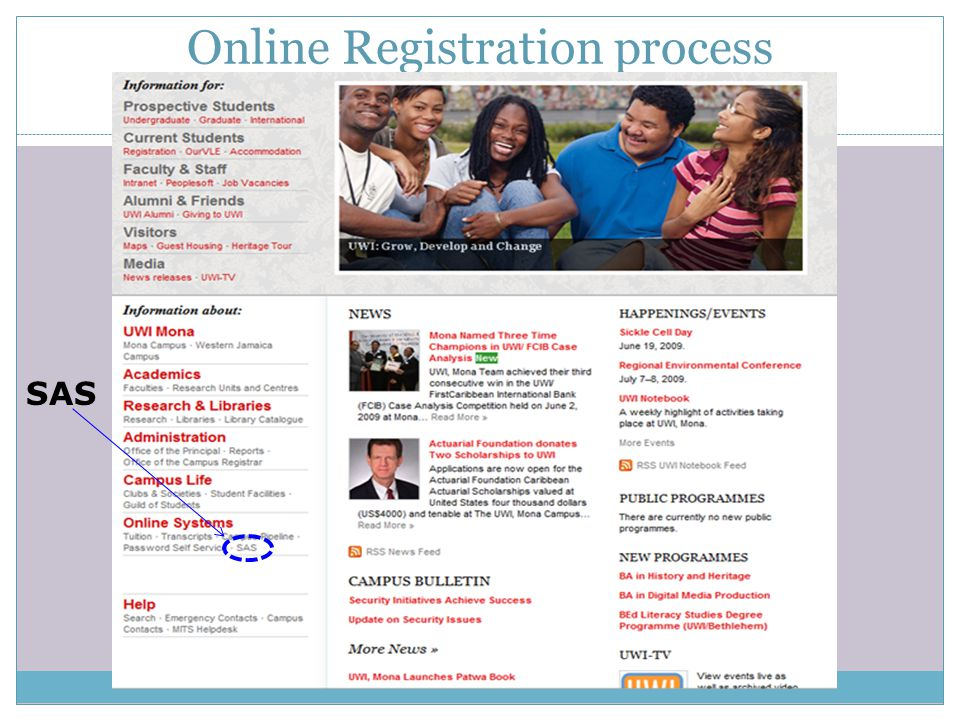 Online Registration process