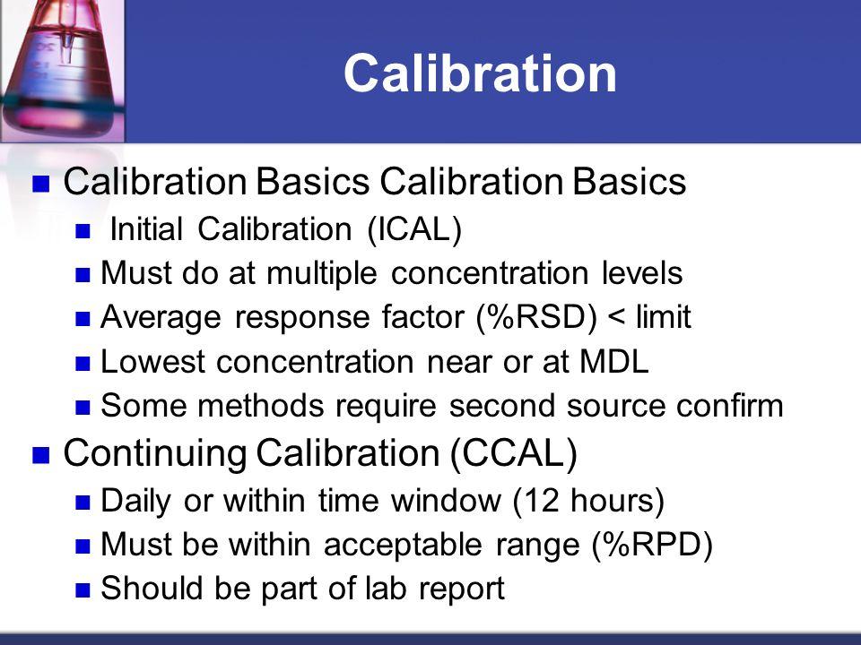 Calibration Calibration Basics Calibration Basics