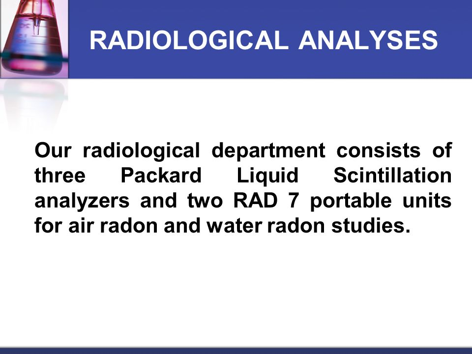 RADIOLOGICAL ANALYSES