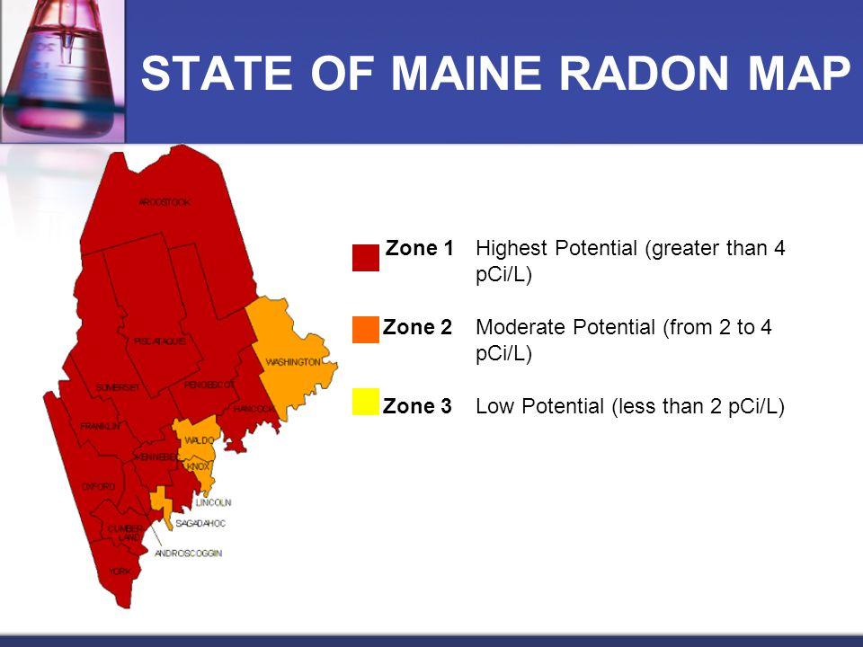 STATE OF MAINE RADON MAP