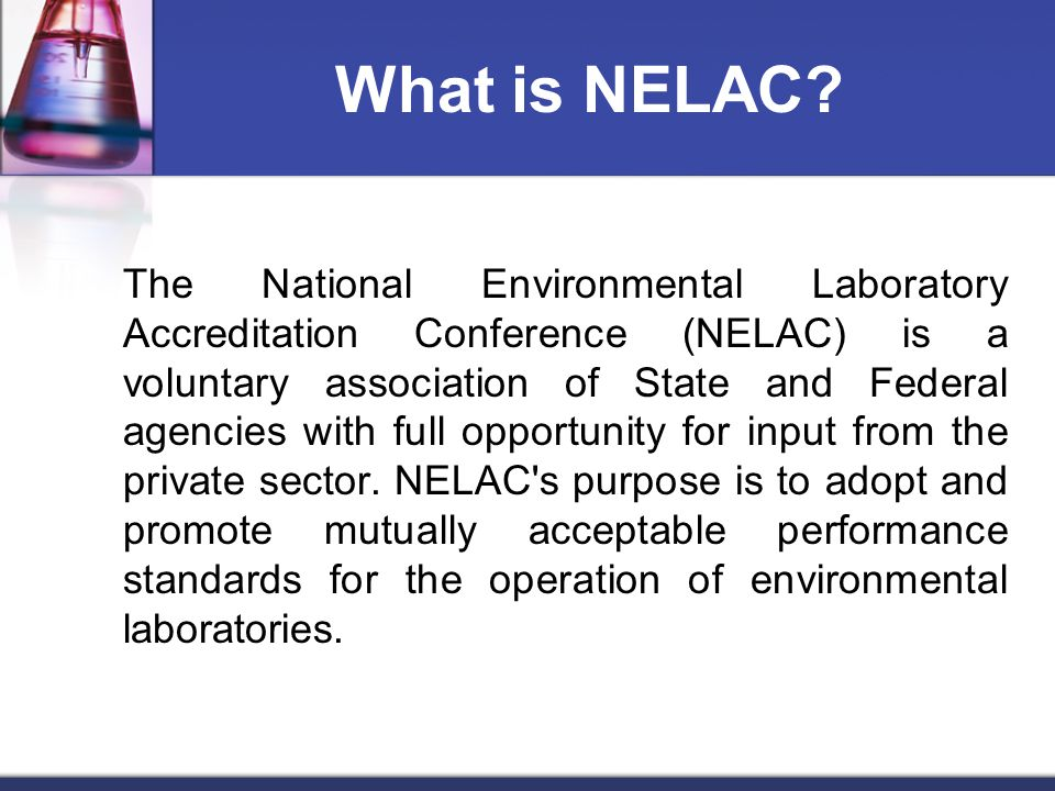 What is NELAC