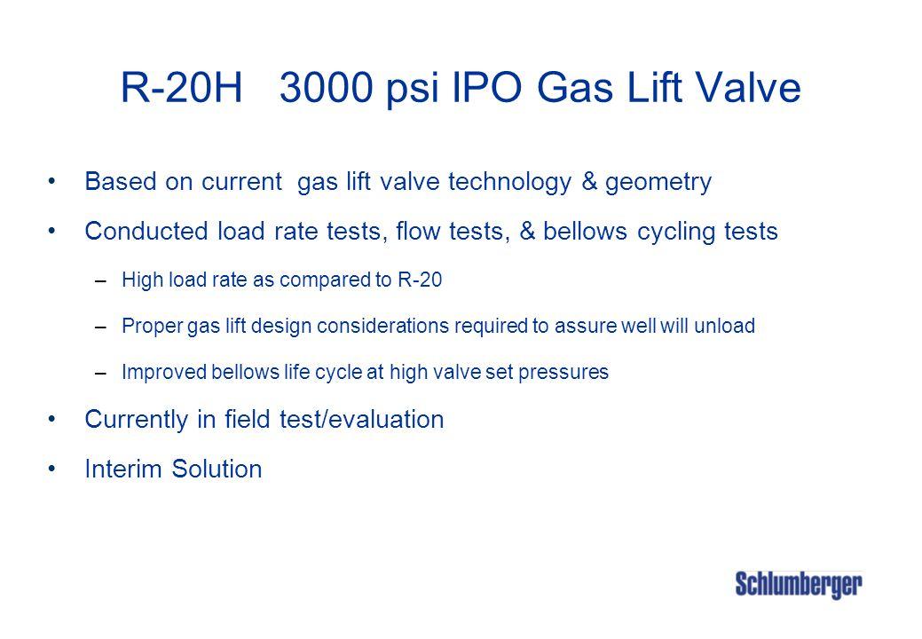 R-20H 3000 psi IPO Gas Lift Valve