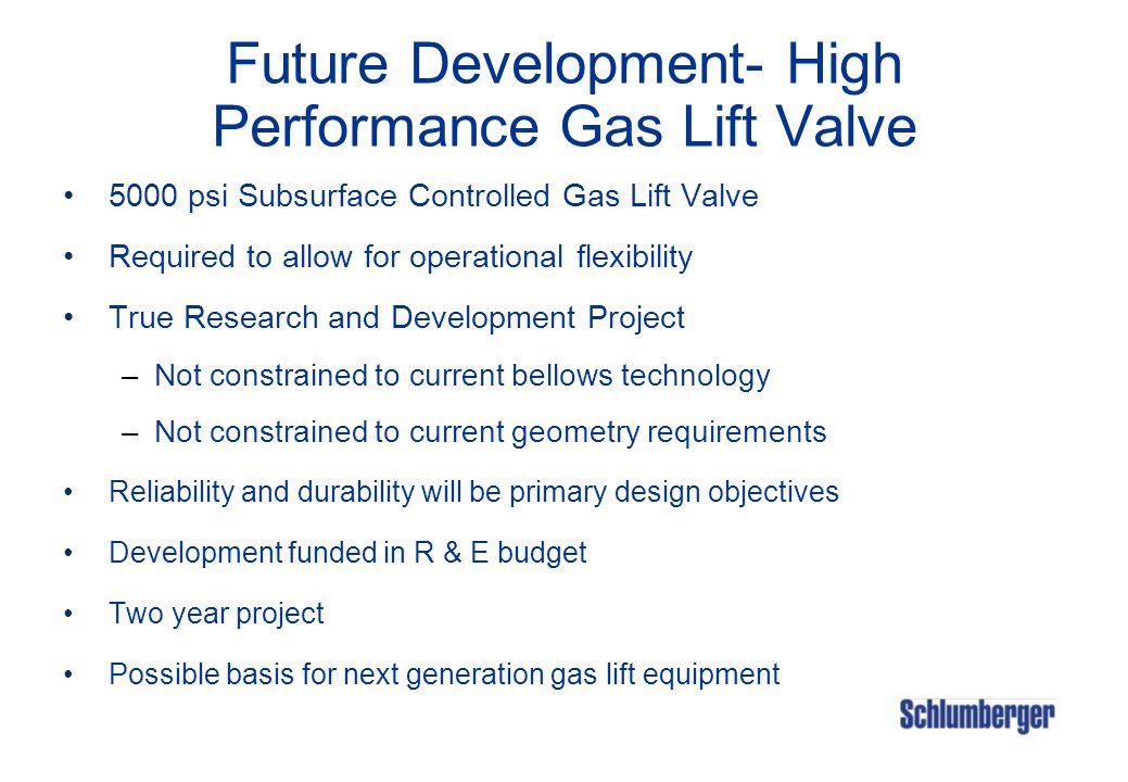 Future Development- High Performance Gas Lift Valve